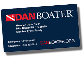 sample DAN Boater member card