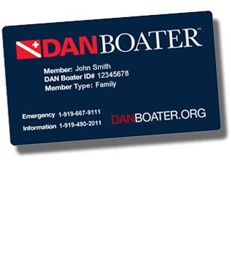 sample DAN Boater member card