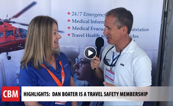 WATCH: Chesapeake Bay Magazine covers DAN Boater's travel safety membership at the Annapolis Sailboat Show