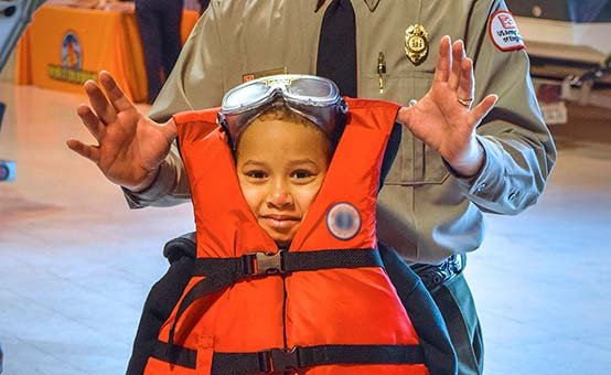 Adult life jackets are not appropriate for children